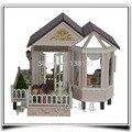A012 grande Villa com música voz luz diy casa de bonecas de madeira casa de bonecas em miniatura meninas/crianças presentes modelo brinquedos