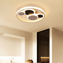 Modern led Ceiling chandelier Whit and Black Surface mount for bedroom living room plafond iron acrylic lighting