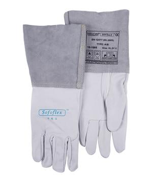 Grain Cow Leather Welder Safety Glove TIG MIG Welding Work Gloves welding gloves gas welder gloves cowhide high temperature heat resistant arc tig mig leather work gloves