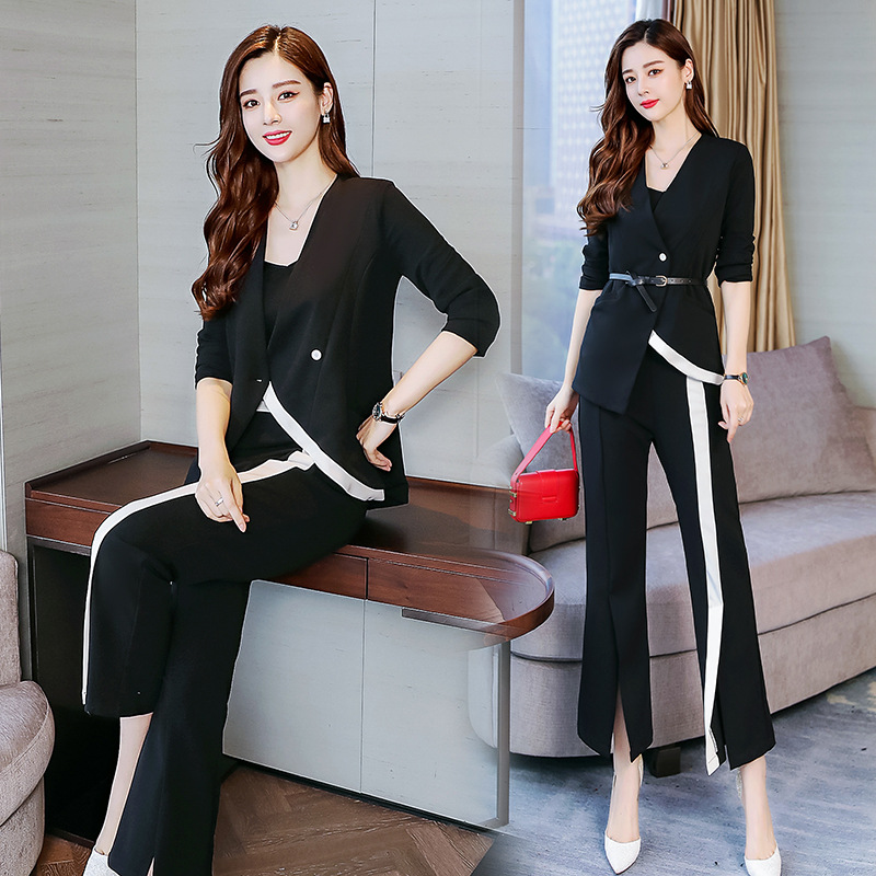 Mode 2019 Veste Femmes 1 Tempérament Supérieure Costume Nouvelle De Banlieue Qualité Droit Du Version Coréenne Deux Automne Pantalon pièce 57qzWzPB