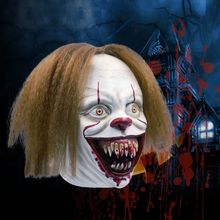 Halloween Horror Latex Mask Clown Cosplay Scary Half Face Masquerade Party Decoration Prank Props