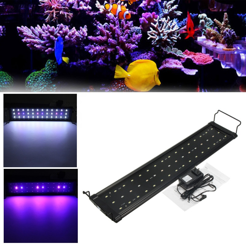 5730 SMD 12W 48 LED Underwater Light Full Spectrum Aquarium Fish Fishbowl Lamp Non Waterproof For 58-82cm Aquarium Tank  лобзик hammer lzk600с premium