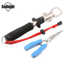 SeaKnight Fishing Tools Set SK003 Stainless Steel Fishing Grips with Scale 15KG/33LB+ Multi-function Fishing Pliers Fishing Tool