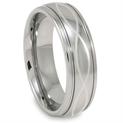Tailor Made Infinity Knot Laser Engraving Men's Tungsten Ring Size 4-18 whole, half & quarter (#NR11)