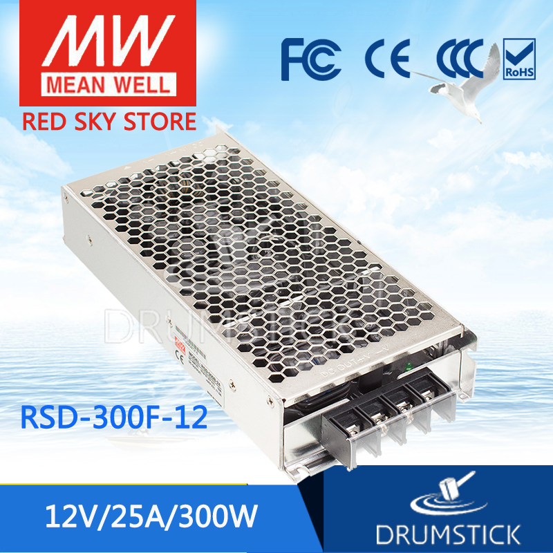 MEAN WELL RSD-300F-12 12V 25A meanwell RSD-300 12V 300W Railway Single Output DC-DC Converter [powernex] mean well original rsd 150c 12 12v 12 5a meanwell rsd 150 12v 150w railway single output dc dc converter