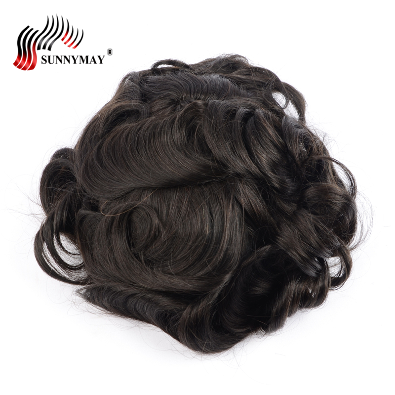 Sunnymay Swiss lace front hair natural toupee , men wig , hair men toupee , Hair Replacement Men Toupee free shipping