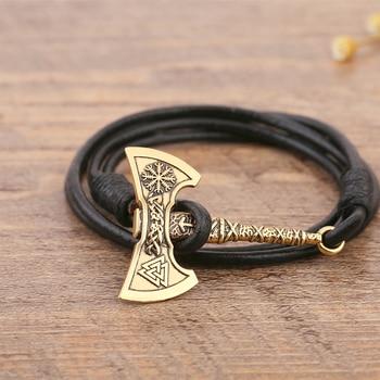 Axe of Perun Viking Leather Bracelets  Viking Bracelet