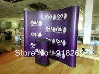 3X3 (8X8ft) Пользовательские печати Магнитный дуги всплывающие стенд баннер с пластиковый чемодан на колесах стол, фон дисплея баннер