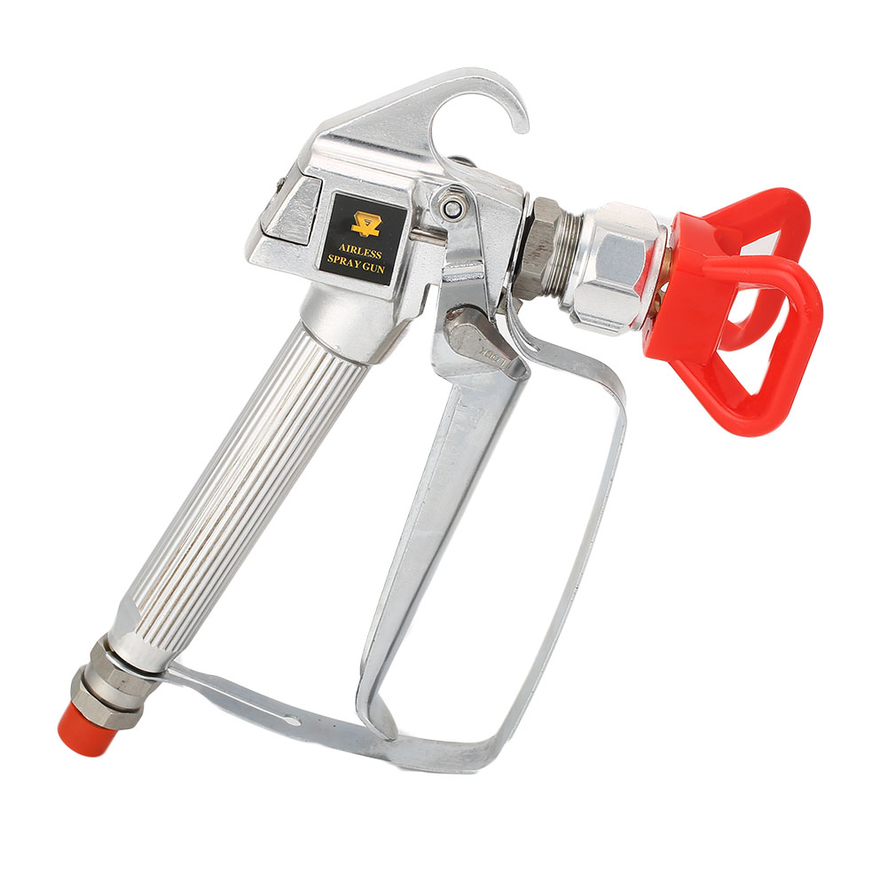 Professional 3600PSI Airless Paint Spray Gun High Pressure No Gas Spraying Kit sat1215 spray gun airless on chrome pneumatic pressure tanning stainless paint