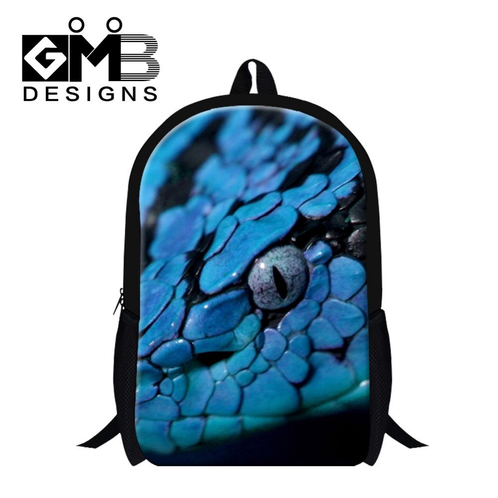 Dispalang Children School Bags Animal Snack 3D Printing Mens School Backpack For Teenager Girls Boys Kids Travel Bag Backbag