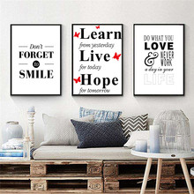 ФОТО letter quote poster print nordic canvas painting home decor wall art office bedroom living room picture diy backdrop no framed