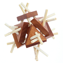 3D Vintage Kongming Lock Luban Lock Wooden Toys Puzzle Children Adult Chinese Traditional Puzzle Game Kongming