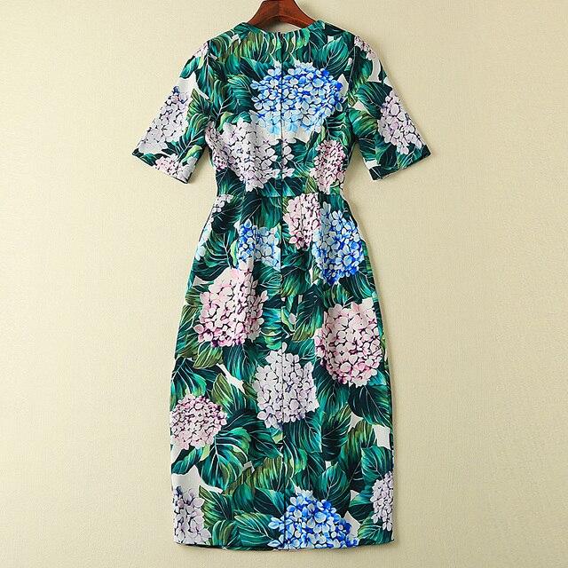Robe courte piste haute qualité 2019 printemps été nouveau femmes fête mode Boho plage Vintage élégant Chic vert imprimer robes