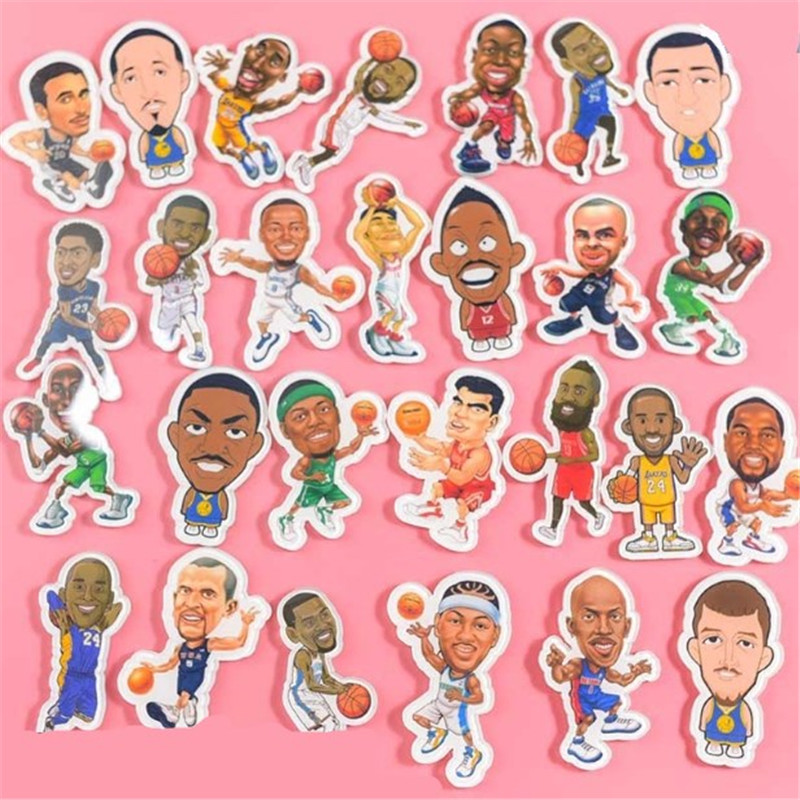 1PC Cartoon Badge Basketball Star Brooches Idol Icons Acrylic Badges For Men Backpack Icons Pin Badge Decorations Fans Gift
