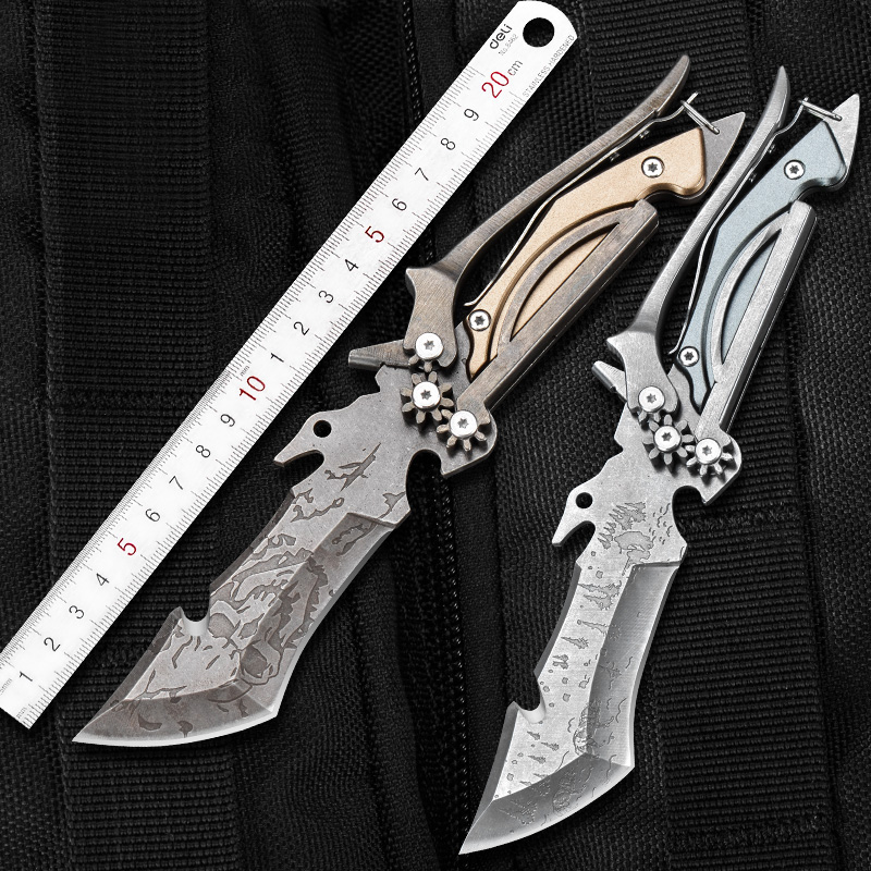 CIMA with scissors features Stainless Steel Fixed Blade Knife for Outdoor Survival Camping and Everyday Carry image