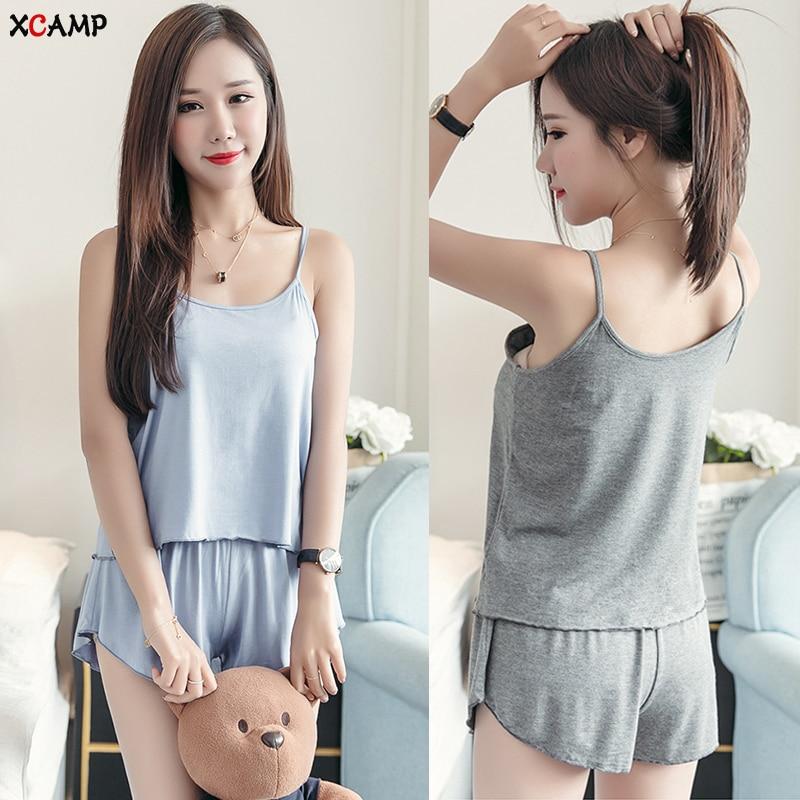 Free Shipping Modal Sexy Women Plus Size Sleepwear Summer Pajamas Sets For Women Sleepwear Nightgown Hot Sale Women Clothes