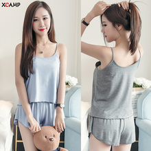 Free Shipping Modal Sexy Women Plus Size Sleepwear Summer Pajamas Sets For Nightgown Hot Sale Clothes