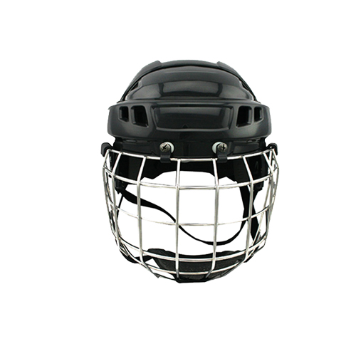 CE approval black ice hockey helmet head protection for free shipping hockey equipment magideal ice hockey helmet soft eva liner with cage for player hockey face shield xs s m l xl