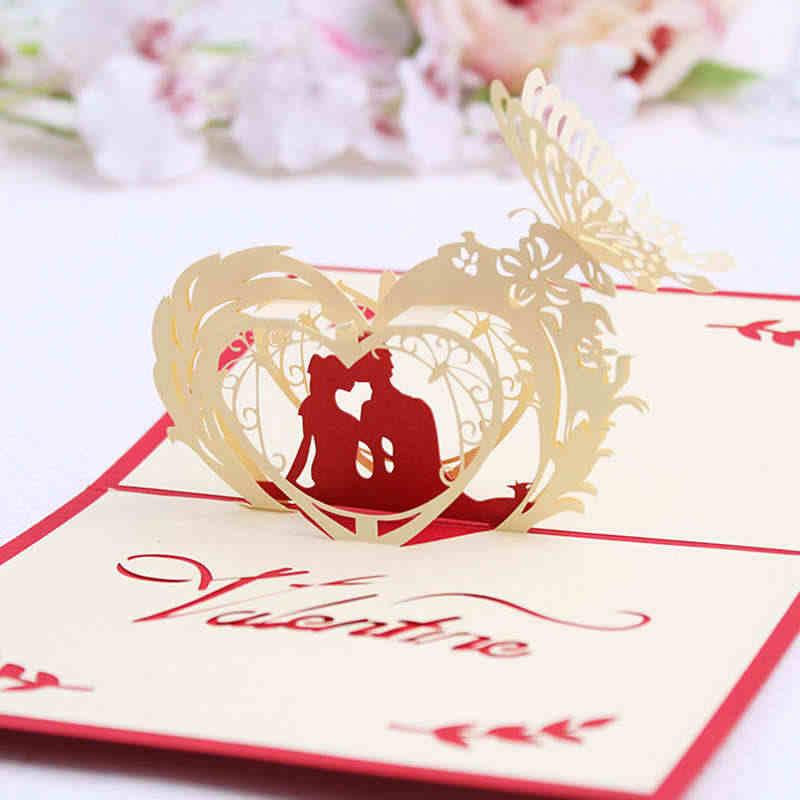Anniversario Di Matrimonio Benedizione.Doreenbeads 3d Carta Di Felice Giorno Di San Valentino Lovers