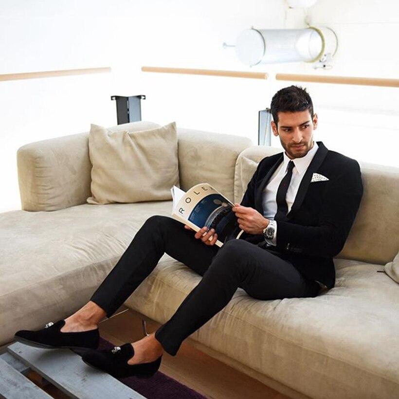 Mocassins Style De Et Banquet En Le Bal or Avec Métal Nouvelle Britannique Chaussures Piergitar Appartements Crâne Black Mâle Velours Mode Hommes Main UnwaPO