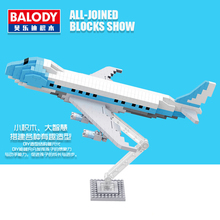 Mini Qute BALODY cartoon Airline company gift plane Diamond building blocks brick action figures collect model educational toy