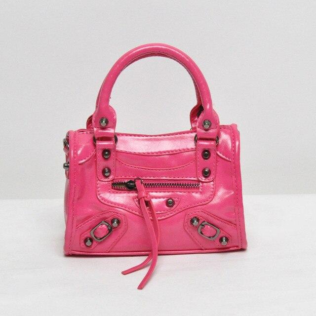 63a38fc5ebb6 Children s Handbags women Small Shoulder Bags Women s Mini PU Leather Bag  Girl s Motorcycle bag Kids Purse