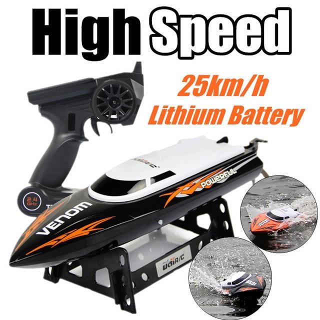RC Boat UDI udi001 boat Infinitely Variable Speeds/high Speed Racing Boat 2.4G 32CM 25km/h Best Gift For Kids