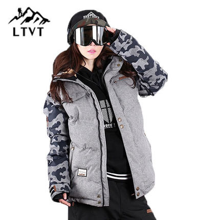 LTVT Brand Ski Jacket Women Snowboarding jackets Warm Snow Coat Breathable Camouflage Waterproof Skiing Jackets Female цена