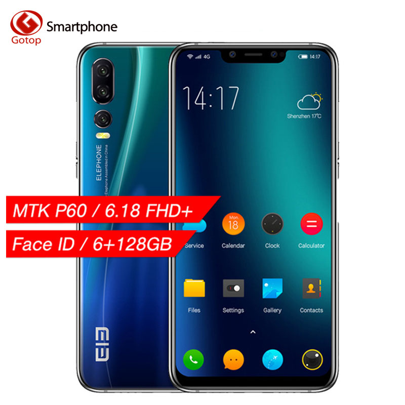 Elephone A5 6GB 128GB Mobile Phone Android 8.1 MTK6771 Octa Core 6.18 Inch U-Notch Screen 20MP Camera 4000mah 4G LTE Smartphone