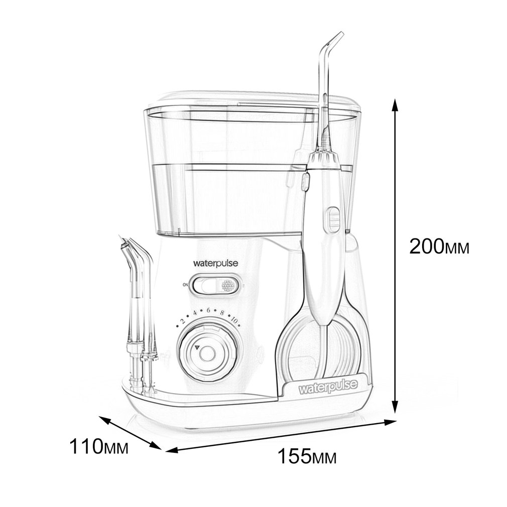 Waterpulse V300G 100 240V Oral Irrigator Water Jet Pick Dental Floss Teeth 800ML Water Capacity Tooth Cleaner in Toothbrushes from Beauty Health