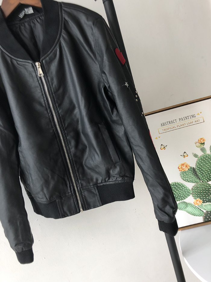 Thaïlande Marque Veste Cuir Motif Star Wq1199 Rivet En Féminine Nouvelle Pu Style Printemps Black Vestes Mode Locomotive Broderie Perles 6xqSgEwE