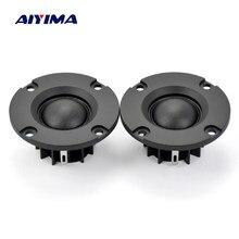 Aiyima 2 polegada 4/6/8 ohm 15w cúpula filme de seda tweeters alto-falante de áudio alto-falante de alta fidelidade de neodímio 20 núcleos mini portátil 2pcs
