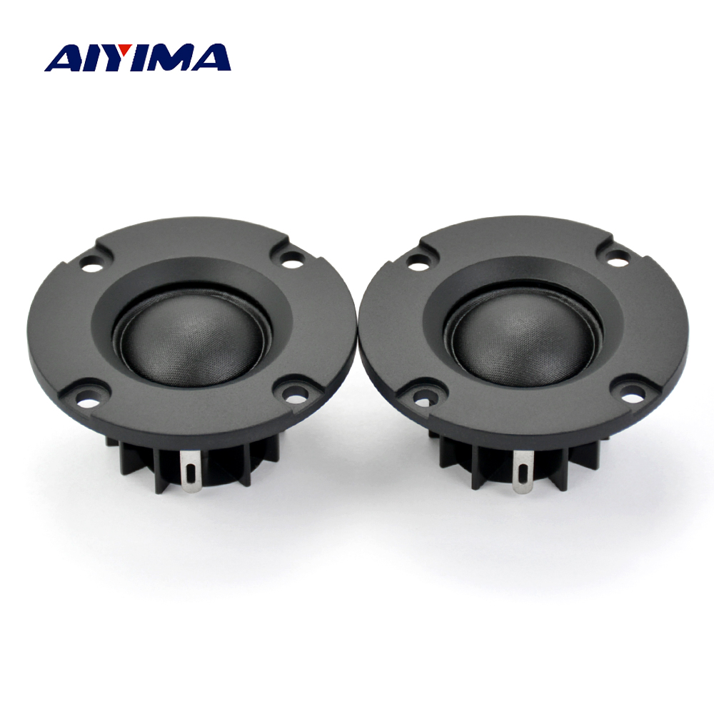 Aiyima 2Pcs Tweeters Audio Loudspeakers Tweeter Treble Hifi Silk Film Tweeter 20 Core Portable Mini Speaker 6 Ohm 50MM