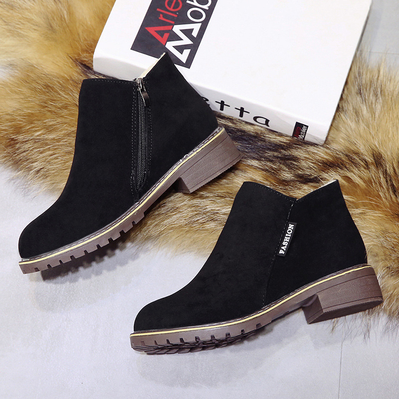 2018 new Boots Woman Shoes Winter Female Warm Fur Water-resistant Upper Fashion Non-slip Sole Free Shipping New Style Snow Boot (5)