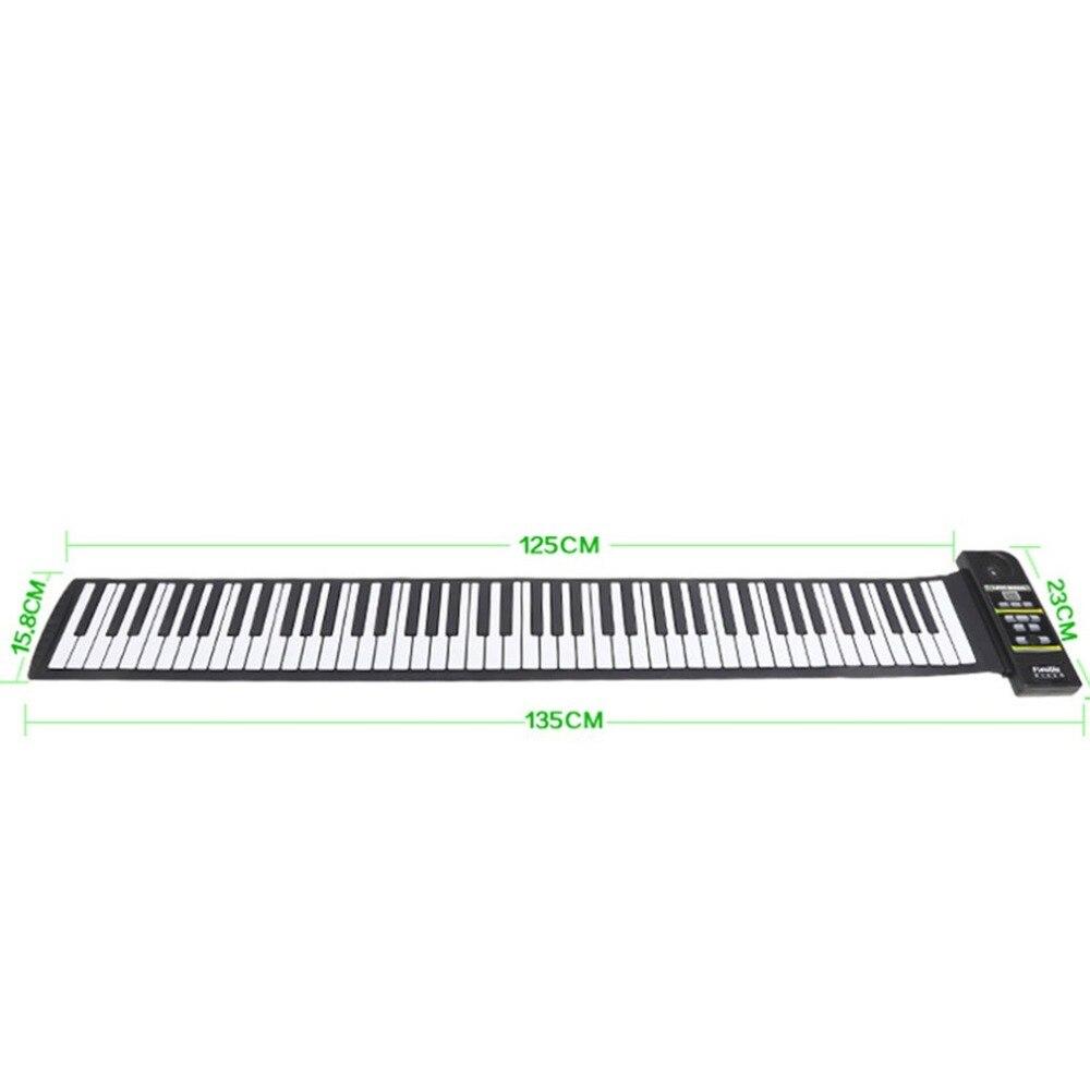 Multi-style Portable 88 clés Silicone Flexible retrousser Piano pliant clavier électronique pour enfants étudiant - 6