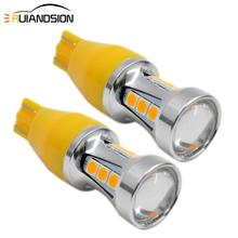 2x 3.8W 12-24V Extremely Bright Canbus Error Free 921 912 T15 3030 18SMD LED Bulbs for Backup Reverse Lights Xenon White Yellow