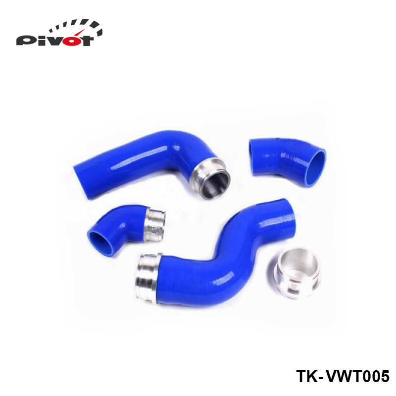 Silicone Intercooler Induction Intake Turbo Boost Hose Kit For VW Golf MK5 GTI 2.0FSI/JETTA GLI 2.0TDI (4pcs) TK-VWT005 metal hood latch lock catch for vw jetta golf gti mk4 gl glx tdi