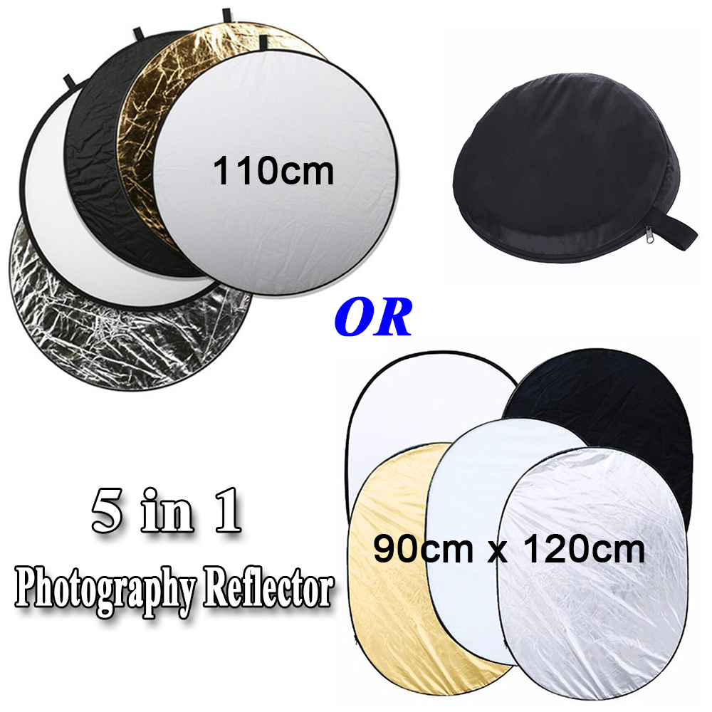 INSEESI Photography Reflector 35x 47* 90x120cm /43* 110cm 5 in 1 Portable Collapsible Softbox for Studio Multi Photo Accessor