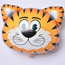6pcs/lot Mini animal head Foil Balloons