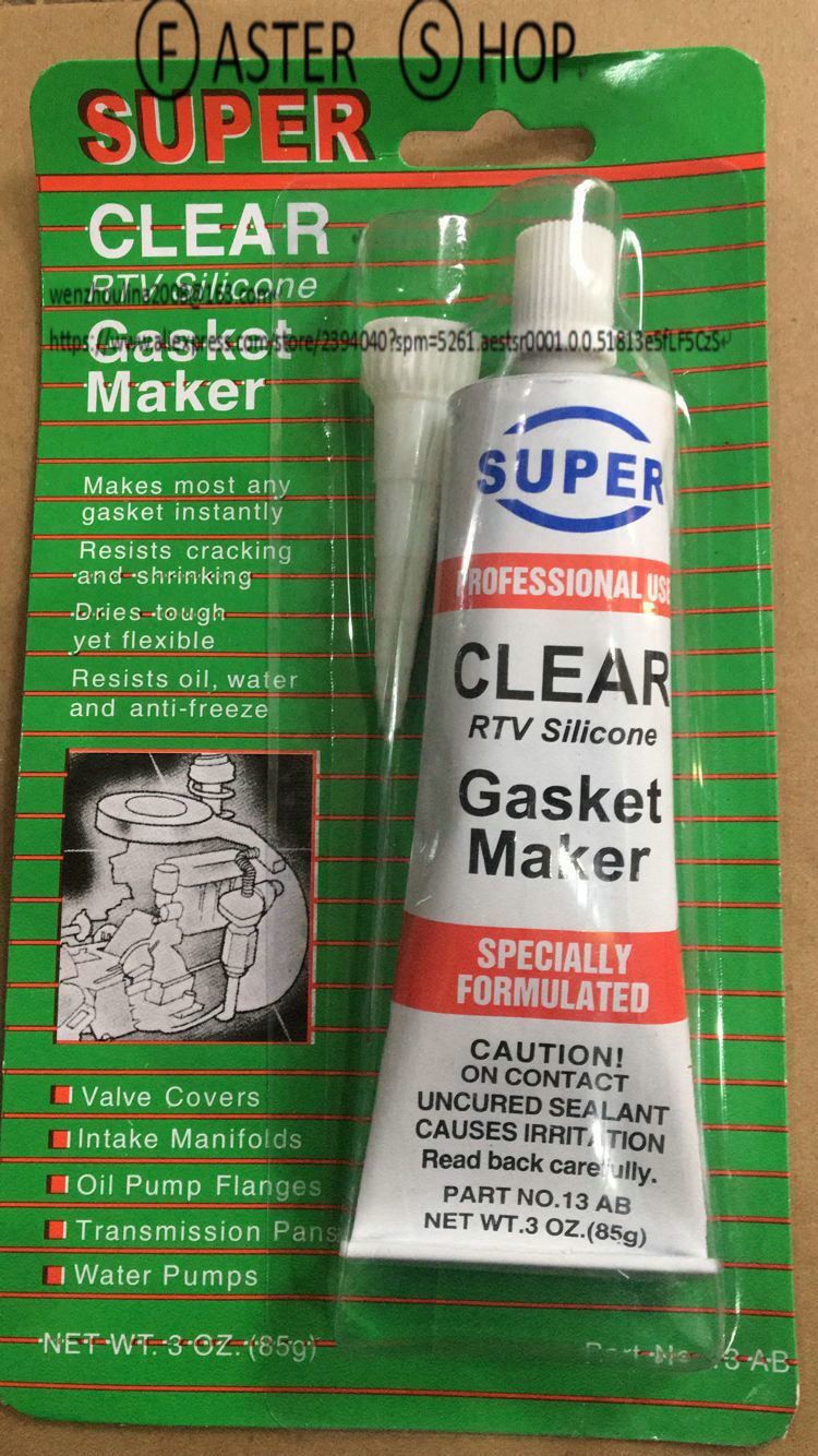 High Temp Sealant >> Us 5 98 8 Off Rtv Professional Use Silicone Gasket Maker Clear High Temp Sealant 85g 3oz Tube In Fillers Adhesives Sealants From Automobiles