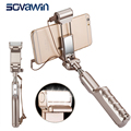 Sovawin selfie stick gran espejo de 3 niveles led flash luz de relleno 360 rotativo wired monopod del trípode universal recargable de mano