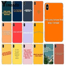 Yinuoda Song Lyrics Billie Eilish Aesthetic Colorful Cute Phone Accessories Case for iPhone 5 5Sx 6 7 7plus 8 8Plus X XS MAX XR