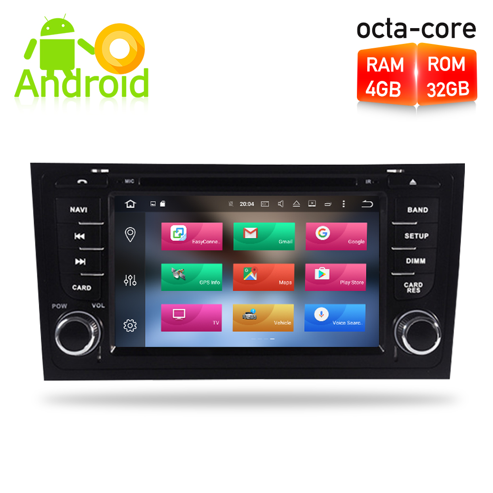 Android 8.0 Car DVD player GPS Navigation Multimedia Stereo For AUDI A6 1997 2004 S6 1997 2007 RS6 1997 2004 Auto Radio Audio