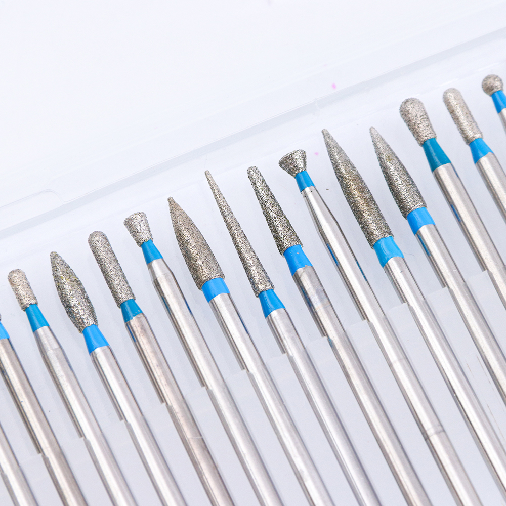 30 Types Diamond Nail File Drill Bit Set 2.35mm Burr Milling Cutter ...