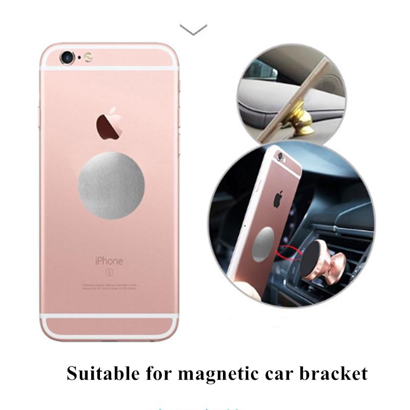 5 adet/grup Metal plaka Disk demir sac mıknatıs cep telefonu tutucu manyetik araba telefonu standı tutucular yeni varış