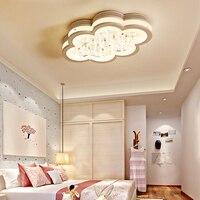 Luminarias Para Teto Abajur Акрил светодиодный потолочный светильник с дистанционным Управление для ребенка кровать украшения дома лампы освещения жи