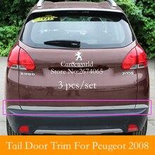 Para 2014 2015 Peugeot 2008 Acessórios ABS Traseiro Cauda portão porta streamer Bagageira Do Carro moldagem guarnição bar-Car styling