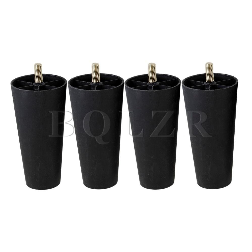 4x Round Tapered Black Plastic Furniture Legs for Sofa 135x 68 x 44mm BQLZR 2pieces diy bqlzr 9 1cmx10 7x4 9cm black plastic left