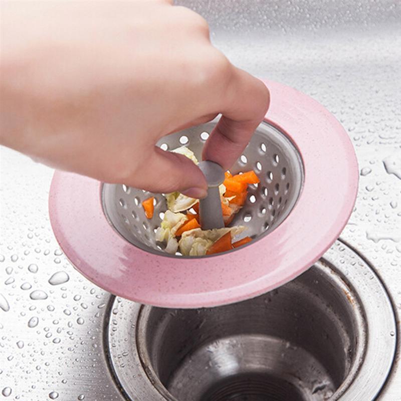 ROSENICE пластиковый сетчатый фильтр для раковины Круглая Корзина Фильтр для кухонных аксессуаров для ванной комнаты(случайный цвет