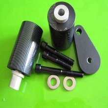 Motorcycle Parts No Cut Spike Carbon Frame Sliders Crash Protector Fit YAMAH YZF R6 YZF600 R6S 1998 1999 2000 2001 2002 03-08